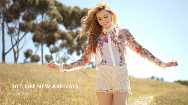 30% Off New Arrivals at Tobi
