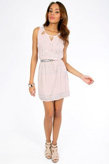 Trying Triangle Cinched Dress $33