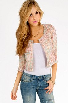 Pearly Please Tweed Jacket $46