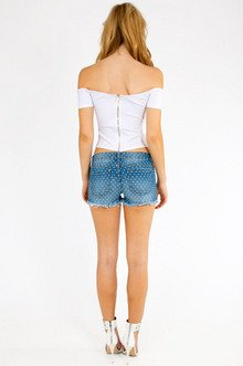 High Rise Cutoff Shorts $35