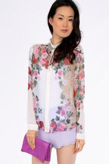 Floral Scent Button Down $37