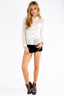 Xcellent Button Up Blouse $39