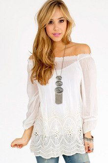 Eyelet You Down Top $37