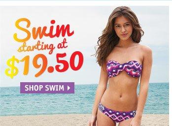Swim starting at  $19.50