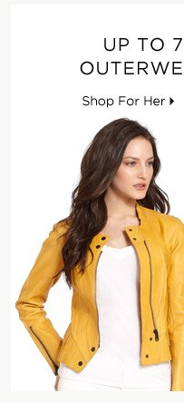 Up To 70% Off* Outerwear Update