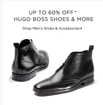 Up To 60% Off* Hugo Boss Shoes & More