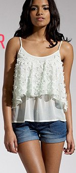 Flower Tier Cami Top