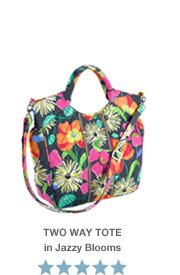 Two Way Tote in Jazzy Blooms