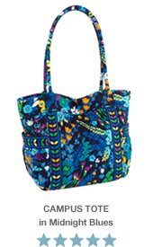 Campus Tote in Midnight Blues