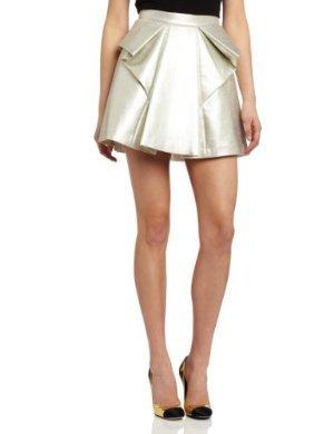 Robert Rodriguez <br> Metallic Laminated Raffia Skirt