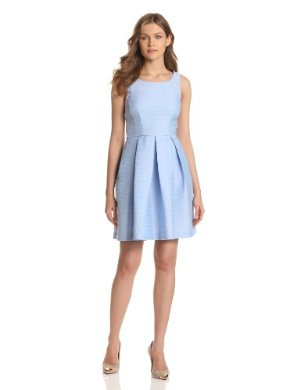 Taylor Dresses <br> Chambray Exposed-Back Dress