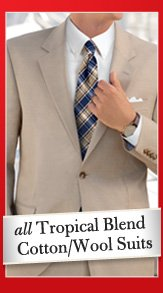 All Tropical Blend Cotton/Wool Suits
