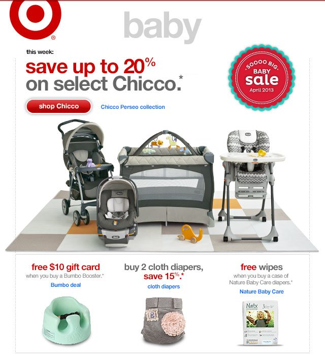 This week:save up to 20% ON SELECT CHICCO.*
