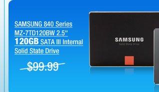 SAMSUNG 840 Series MZ-7TD120BW 2.5 inch 120GB SATA III Internal Solid State Drive