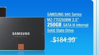 SAMSUNG 840 Series MZ-7TD250BW 2.5 inch 250GB SATA III Internal Solid State Drive