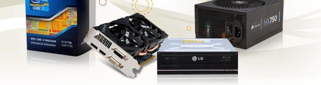 CPU, VGA, ODD, PSU