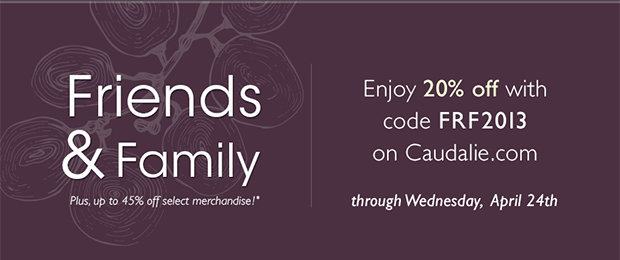 Friends and Family: Enjoy 20% off with code FRF2013 through Wednesday, April 24th