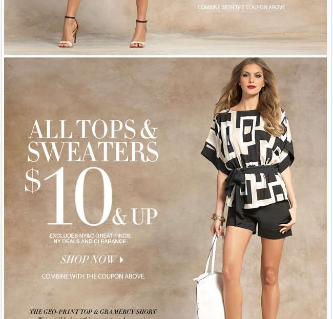 Buy one, get one 50% off all crops and shorts + all tops and sweaters are $10 & up! Shop Now!