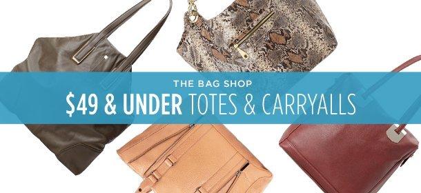 $49 & UNDER: TOTES & CARRYALLS