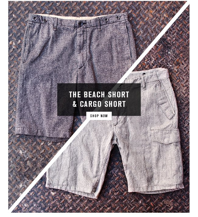 beach and cargo shorts