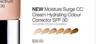 NEW Moisture Surge CC  Cream Hydrating Colour Corrector SPF 30 CHOOSE FROM 6 SHADES. $35.00