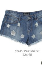 Star Destroyed Fray Short