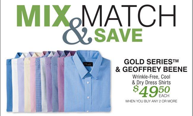 Shop All Geoffrey Beene & Gold Series Dress Shirts Mix & Match