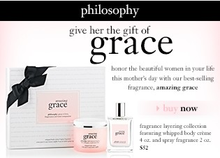 philosophy give her the gift of grace. buy now.