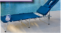 OVERSIZE EXTRA-LONG FOLDING LOUNGE CHAIR