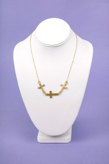 Tri Cross Necklace $7