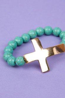 Marble Cross Bracelet $6