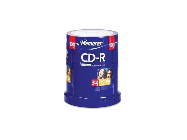 memorex 700MB 52X CD-R 100 Packs Spindle Disc Model 04581