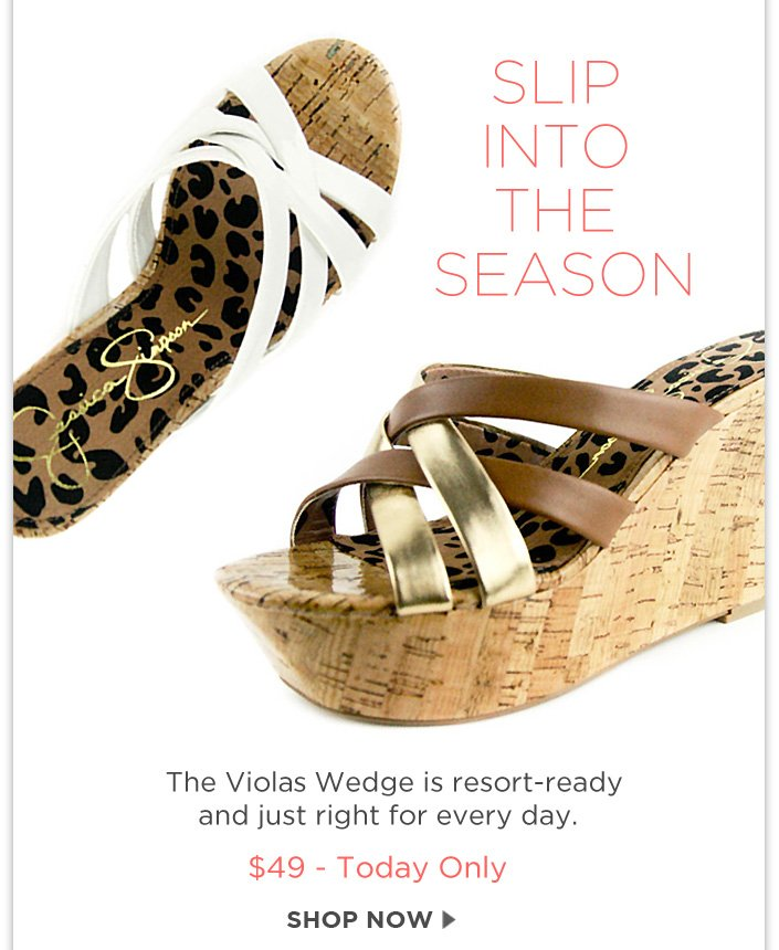 The Violas Wedge is resort-ready and just right for every day! + $49 Sale Ends Tonight!