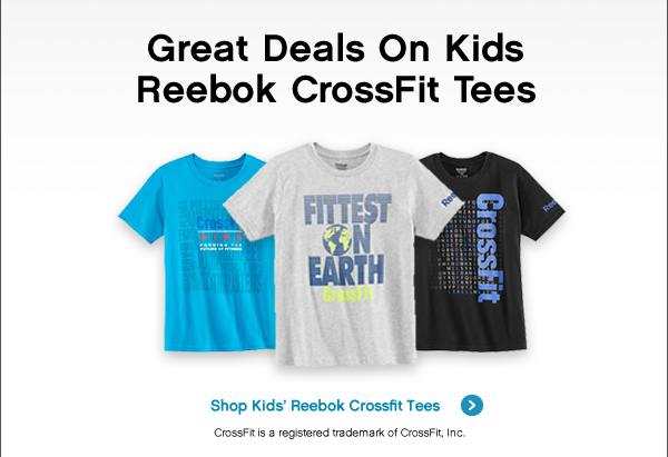GREAT DEALS ON KIDS RERBOK CROSSFIT TEES