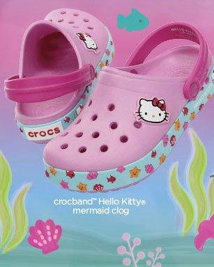 crocband™ Hello Kitty® mermaid clog