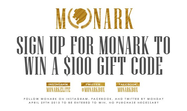 Sign Up to Monark to win a $100 KL gift code!