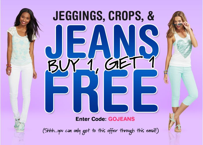 JEANS BUY 1, GET 1 FREE + CROPS  & JEGGINGS