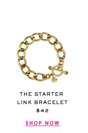 The Starter Link Bracelet at $42. Shop Now.