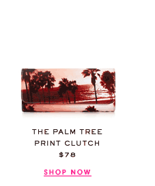 The Palm Tree Pring Clutch at $78. Shop Now.
