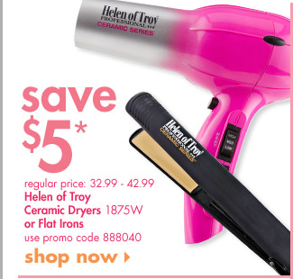 Helen of Troy Ceramic Dryers or Flat Irons