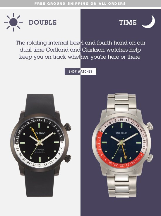 double time.  shop watches.