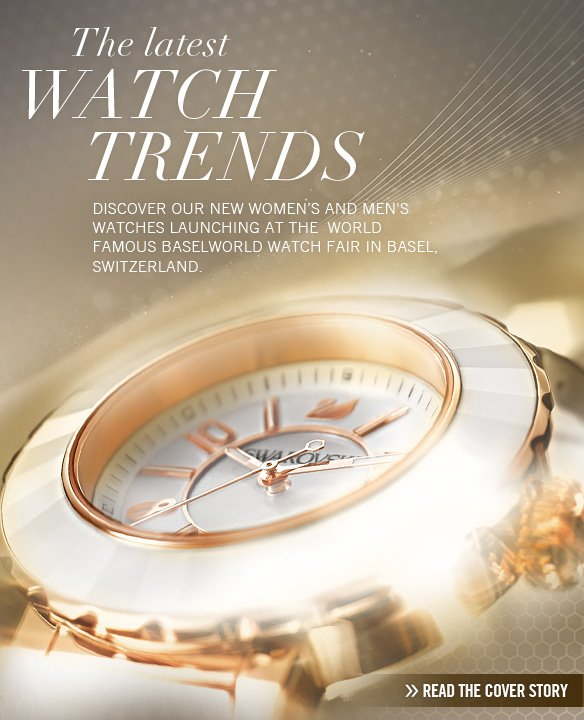 The latest watch trends