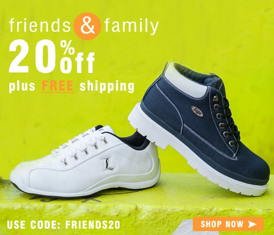 Friends + Family Sale - Get 20% Off + Free Shipping
