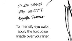 COLOR DESIGN 6PAN PALETTE | Aquatic Essence | To intensify eye color, apply the turquoise shade over your liner.