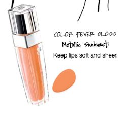 COLOR FEVER GLOSS | Metallic Sunburst | Keep lips soft and sheer.