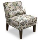 Silsila Rhinestone Armless Chair