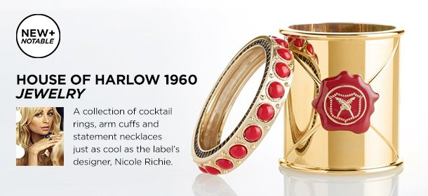 NEW + NOTABLE: HOUSE OF HARLOW 1960 JEWELRY, Event Ends April 28, 9:00 AM PT >