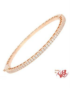 YAGI Ladies Bracelet Designed In Rose Gold Plated Silver