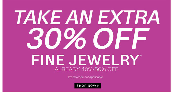 Take an extra 30% off Fine Jewelry. Shop Now.