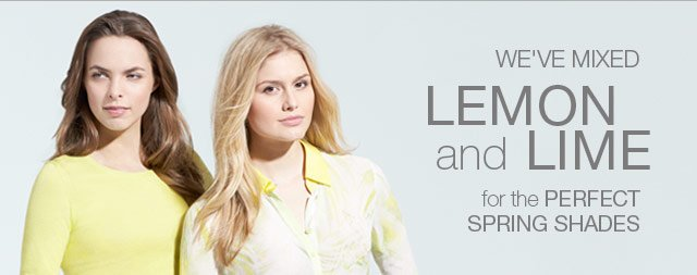 We've mixed Lemon and Lime for the Perfect Spring Shades